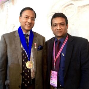 ব্রেস্ট সার্জারি এসেশিয়েসন ইন্ডিয়া (ABSI) এর প্রেসিডেন্ট ডাঃ রঘুরাম এর সাথে